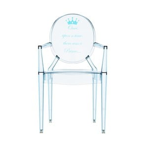 Detská transparentná stolička Kartell Lou Lou Ghost Blue Crown