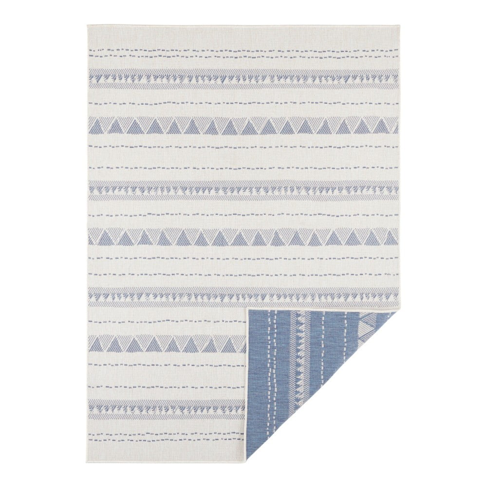 Modro-krémový vonkajší koberec Bougari Bahamas, 120 x 170 cm
