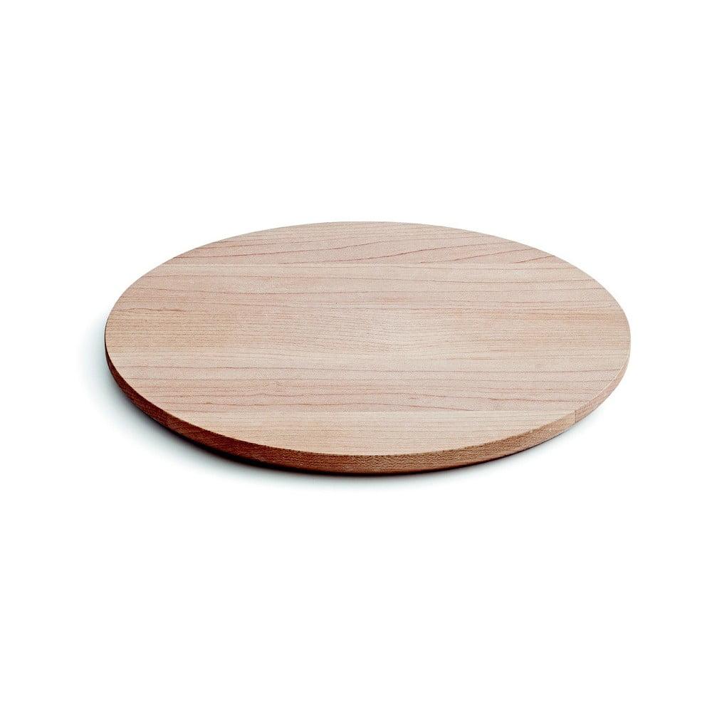 Servírovací podnos z javorového dreva Kähler Design Kaolin, ⌀ 18,5 cm