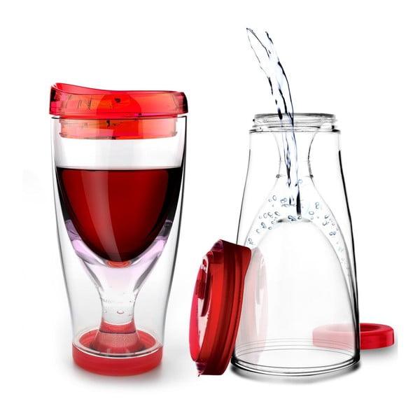 Termoska Ice Vino 2GO, červená