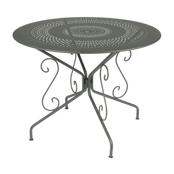 Sivý kovový stôl Fermob Montmartre, Ø96cm
