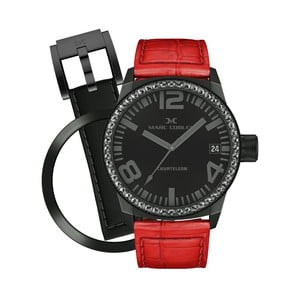 Dámske hodinky Marc Coblen s remienkom a krúžkom na ciferník naviac P53