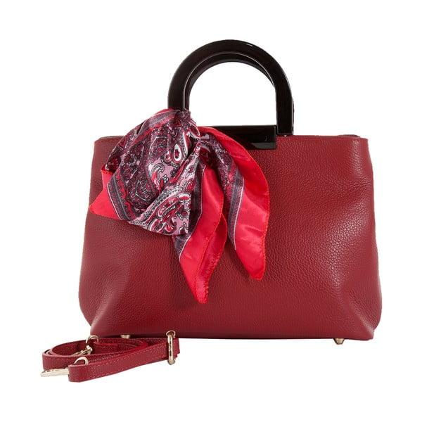 Červená kabelka z pravej kože Andrea Cardone Angelo