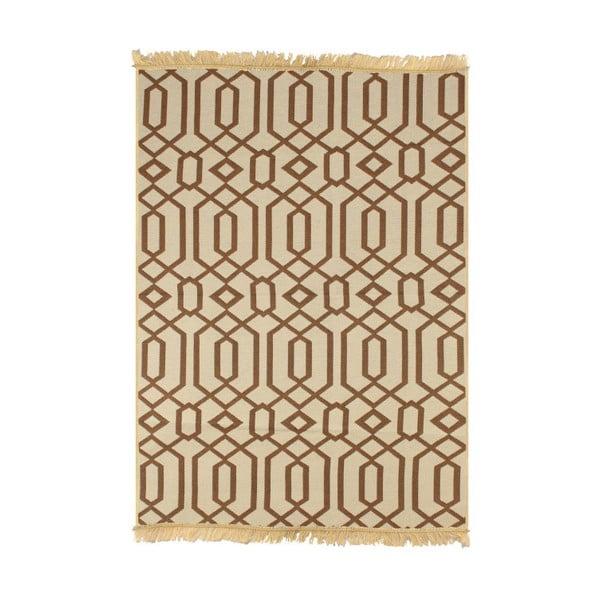 Béžový koberec s hnedým vzorom Ya Rugs Kenar, 60x90cm
