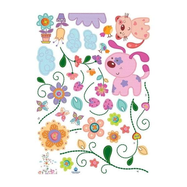 Samolepka Ambiance Colorful animals and tree