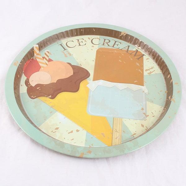 Plechová tácka Ice Cream