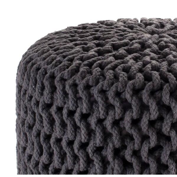 Sivý pletený puf Tomasucci Knit