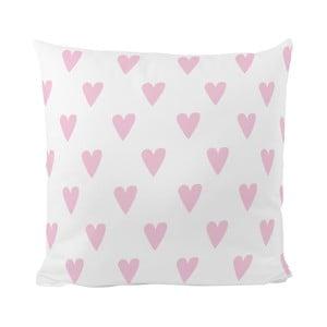 Vankúš Pink Hearts, 50x50 cm