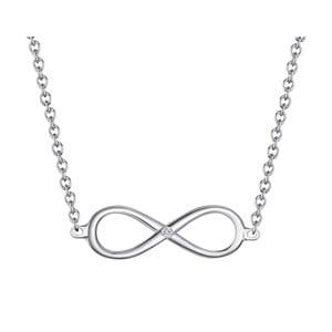 Strieborný náhrdelník s pravým diamantom Tess Diamonds Avril, dĺžka 40 cm