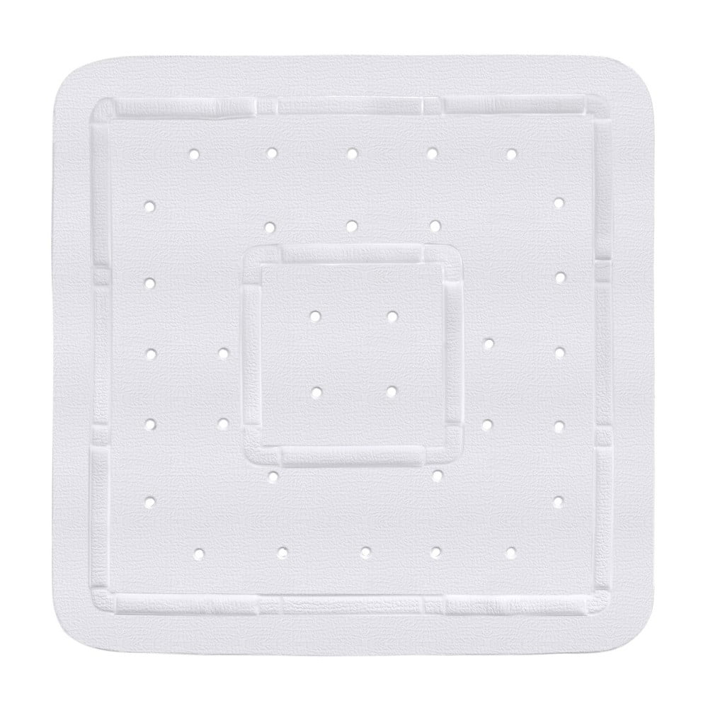 Biela podložka do sprchového koutu Wenko Florida, 55 × 55 cm
