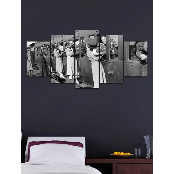 Viacdielny obraz Black&White no. 2, 100x50 cm