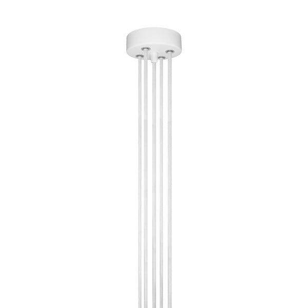 Závesné svietidlo s 5 bielymi káblami a bielou objímkou Bulb Attack Cero Group