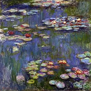 Obraz Claude Monet - Water Lilies 3, 30x30 cm