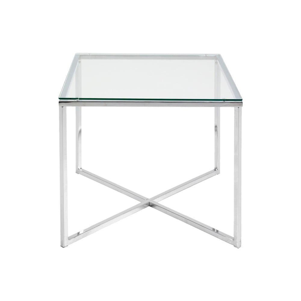 Odkladací stolík Actona Cross, 50 × 50 cm