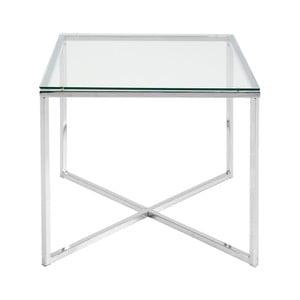 Biely odkladací stolík Actona Cross, 50×45 cm