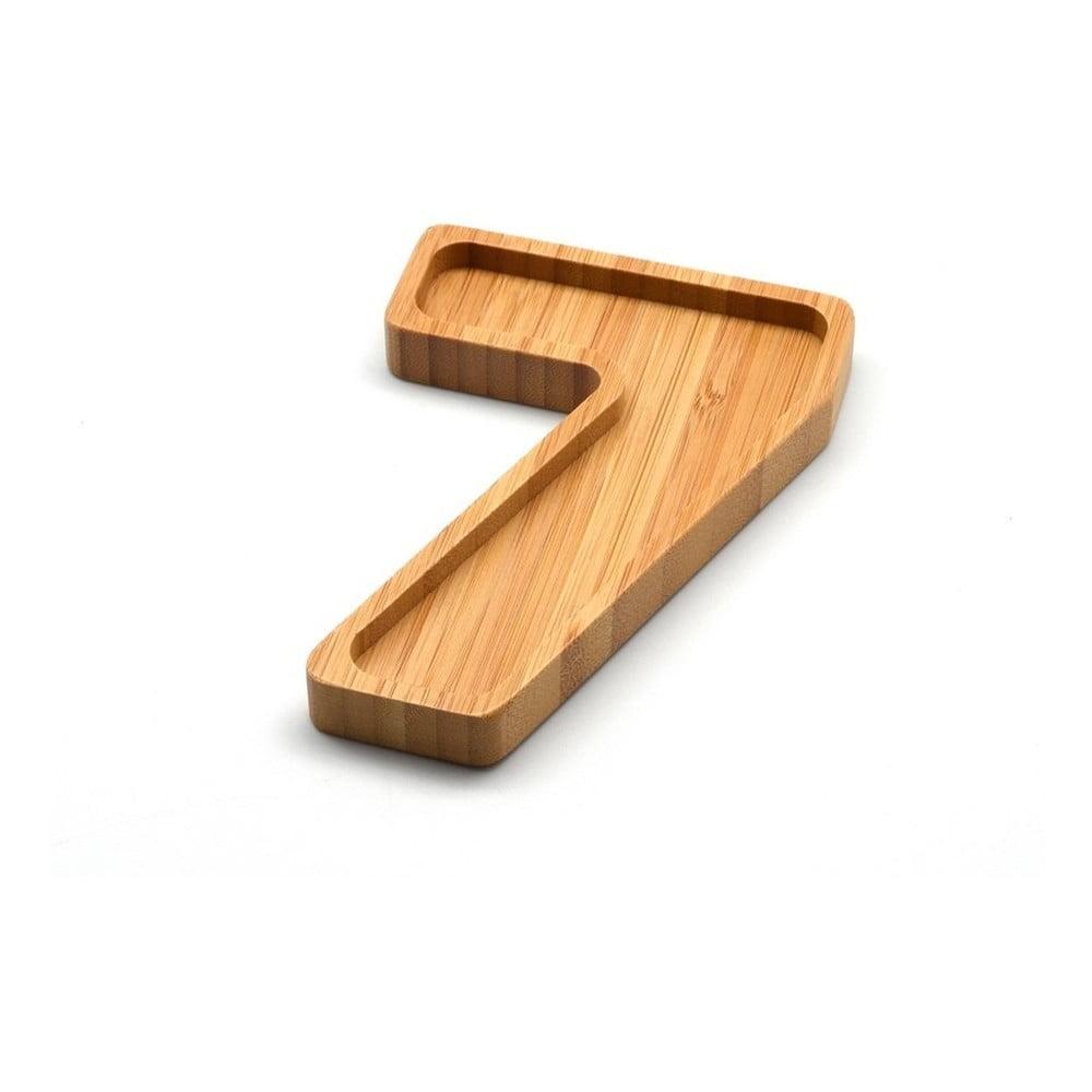 Bambusová miska na oriešky v tvare čísla 7 Bambum Numero