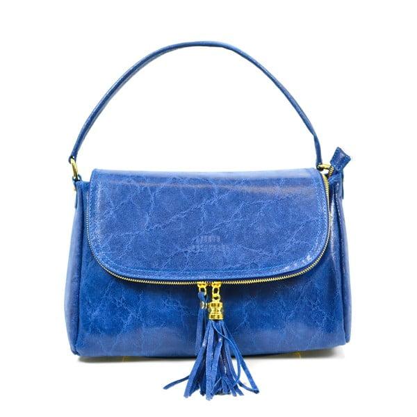 Kožená kabelka Eleonore, modrá