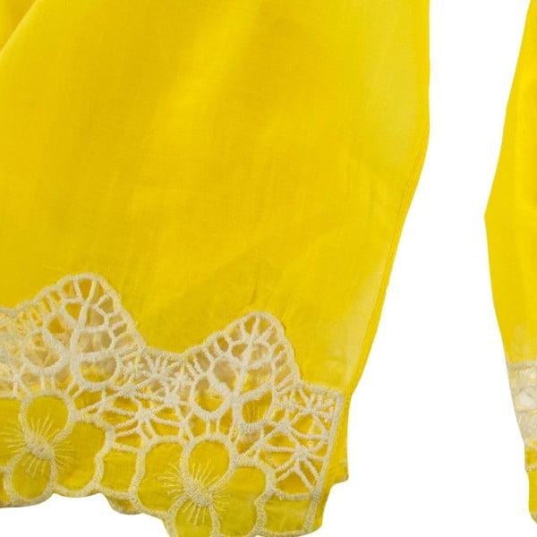 Šatka s prímesou hodvábu Shirin Sehan Florentine Lemon