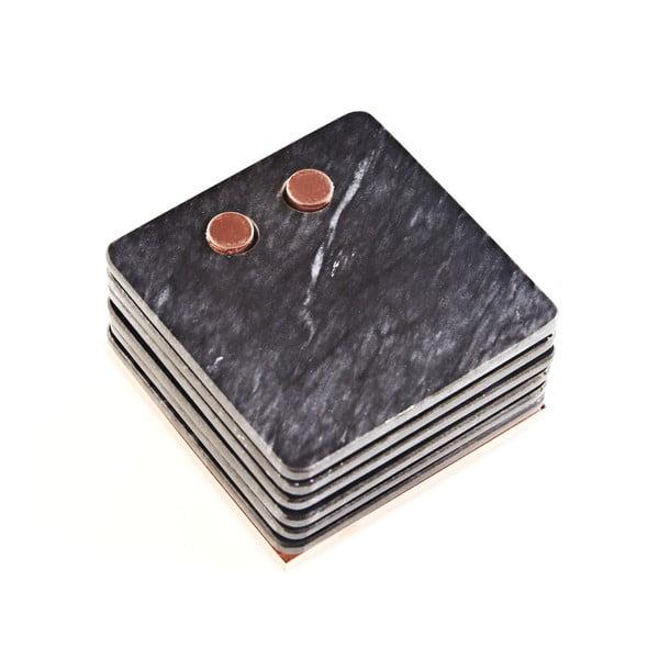 Mramorové podložky pod pohár Marble Black
