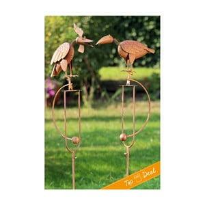 Sada 2 záhradných dekorácií Pendulum Birds