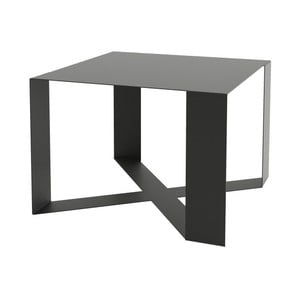 Čierny konferenčný stolík Take Me HOME Cross, 55×55cm