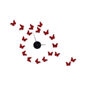 Nástenné samolepiace hodiny Mauro Ferretti Butterflies