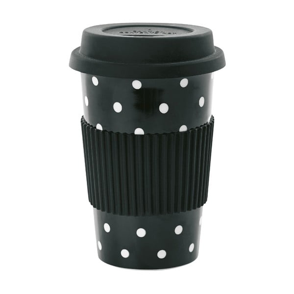 Keramický cestovný hrnček White Dots, 0,5 l