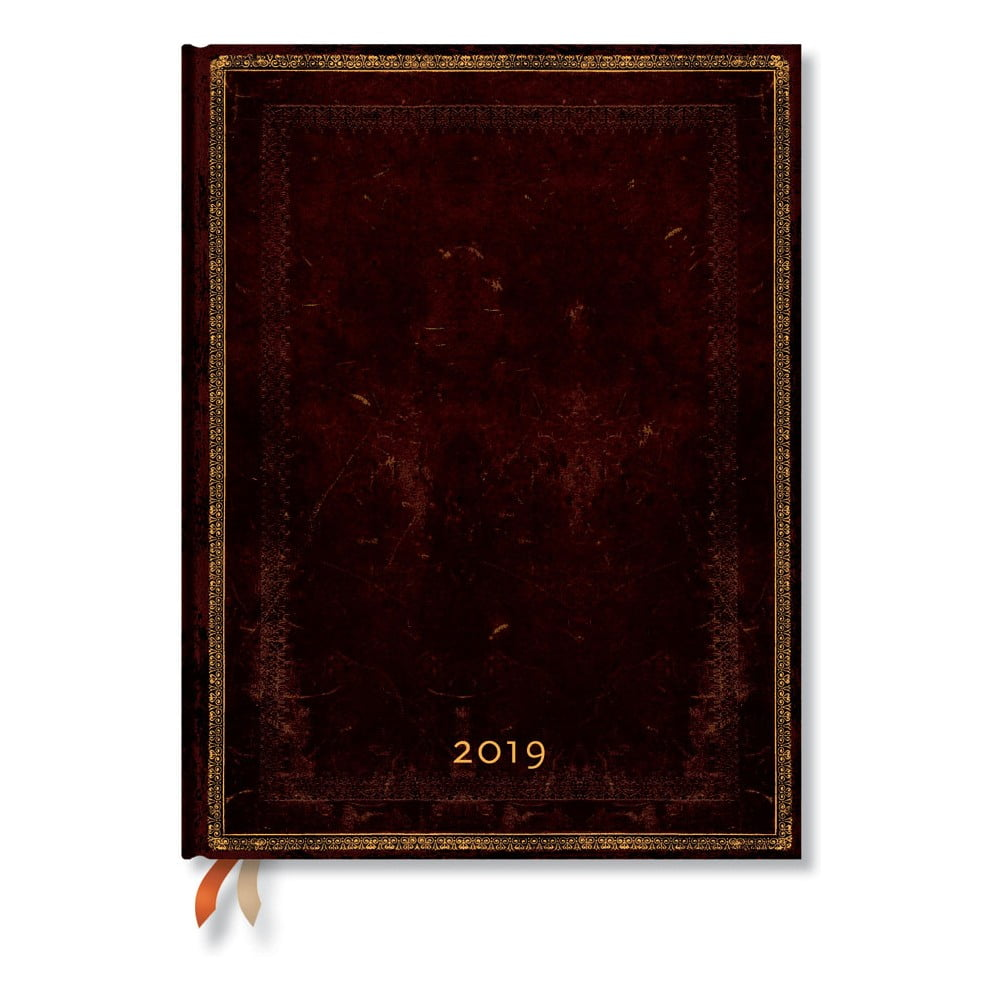 Diár na rok 2019 Paperblanks Black Moroccan, 18 x 23 cm