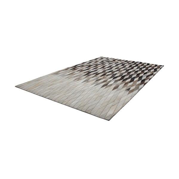 Kožený koberec Eclipse 80x150 cm, hnedý