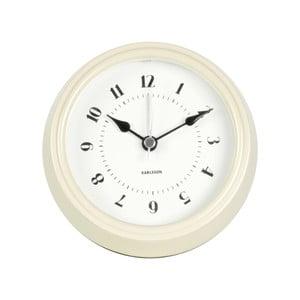 Krémové nástenné hodiny Present Time Fifties, priemer 11,5cm