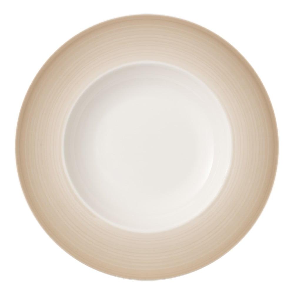 Bielo-hnedý hlboký tanier z porcelánu Villeroy & Boch Colourful Life