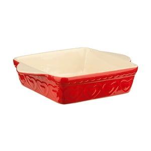 Červená zapekacia misa Premier Housewares Sweet Heart, 22 x 31 cm