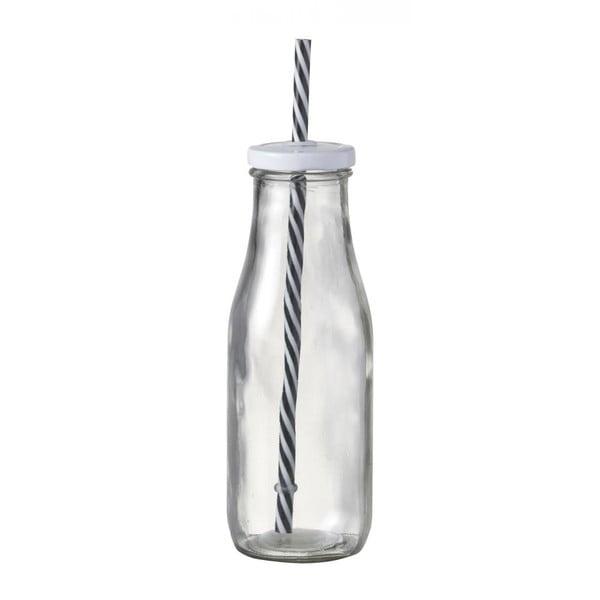 Sklenená fľaša so slamkou Parlane Bottle Milk