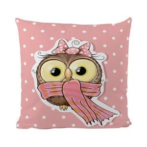 Vankúš Pink Owl, 50x50 cm