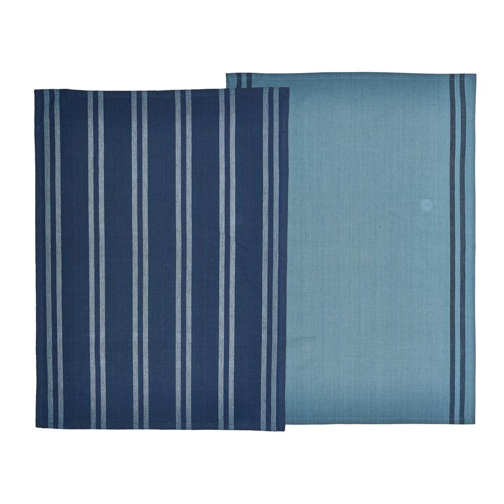 Súprava 2 modrých utierok z bavlny Södahl, 50 x 70 cm
