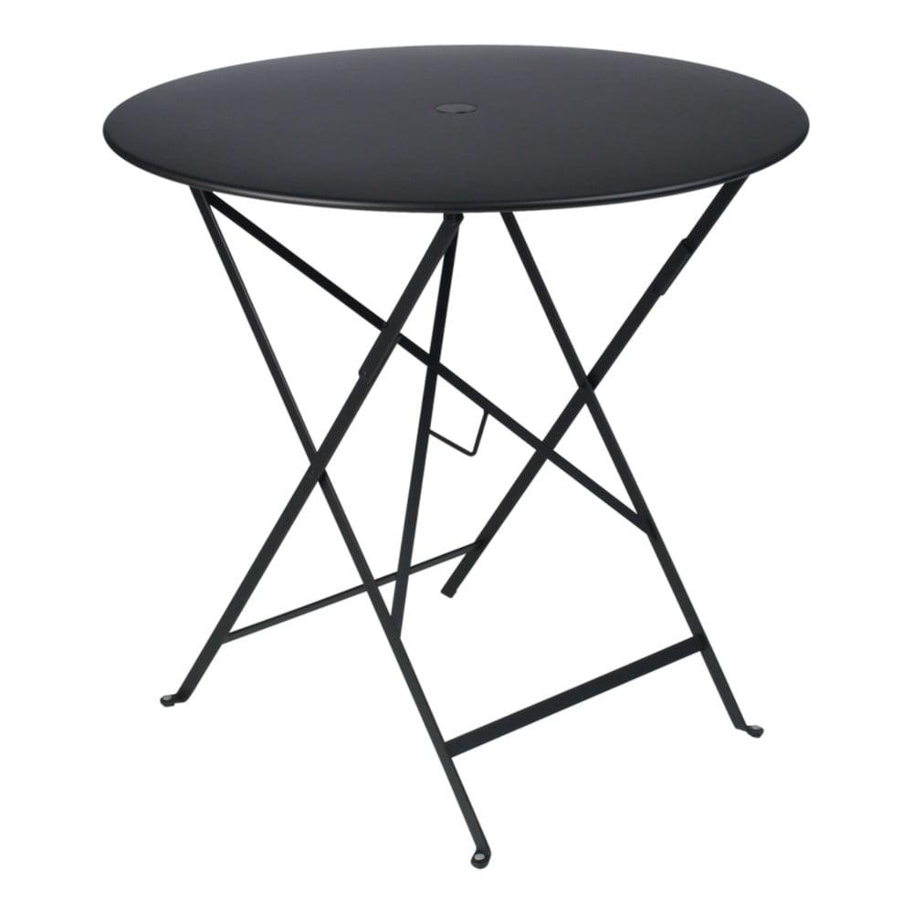 Čierny záhradný stolík Fermob Bistro, Ø 77 cm