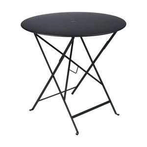 Čierny záhradný stolík Fermob Bistro, Ø77 cm