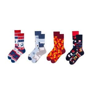 Sada 4 párov ponožiek v darčekovom balení Many Mornings Polar, veľ. 43–46