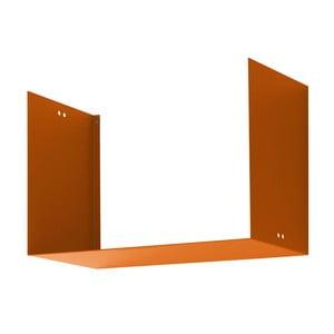 Nástenná polica Geometric Two, oranžová