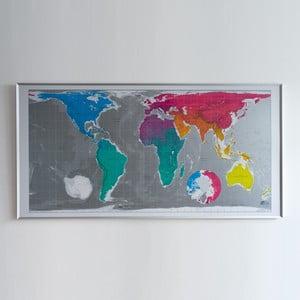 Mapa sveta v priehľadnom puzdre The Future Mapping Company Huge Future Map, 196×100cm