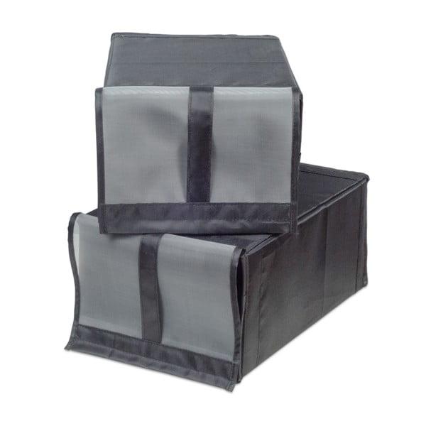 Sada 2 textilných úložných boxov na topánky Jocca, 34 x 22 cm