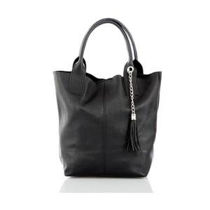 Čierna kožená kabelka Glorious Black Cristin