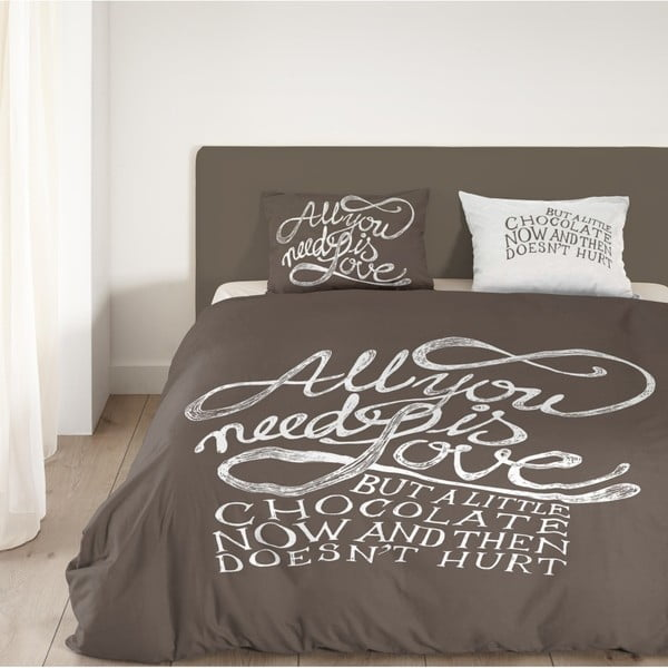 Obliečky Muller Textiel Chocolate Love , 200x200 cm