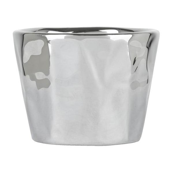 Kvetináč Athezza Earthenware Silver, 7 a 5 cm