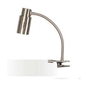 Strieborná stolová lampa s klipom ETH Sava