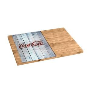 Bambusová doska so sklenenou časťou Wenko Coca-Cola World