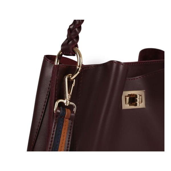 Hnedočervená kožená kabelka Beverly Hills Polo Club Eliana