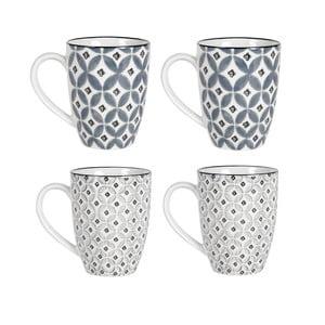Sada 4 porcelánových hrnčekov Old Floor Cups Ceramic