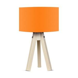 Stolová lampa s oranžovým tienidlom Kate Louise Naturel