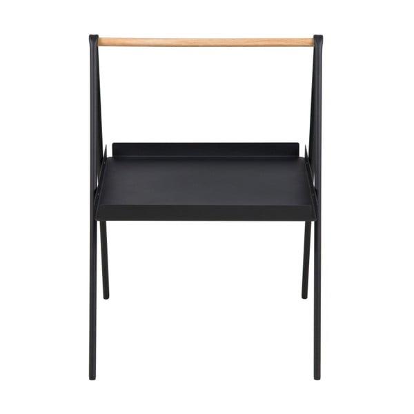 Čierny odkladací stolík Actona Ecktisch